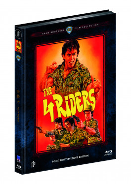 FOUR RIDERS (Blu-ray + DVD) - Cover A - Mediabook - Limited 333 Edition - Uncut (Shaw Brothers)