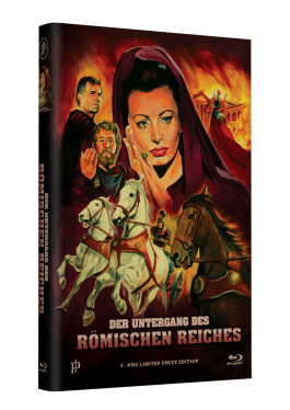 """Hollywood Classic Hartbox Collection """"DER UNTERGANG DES RÖMISCHEN REICHES""""  - Grosse Hartbox Cover A [Blu-ray] Limited 50 Edition - Uncut"""
