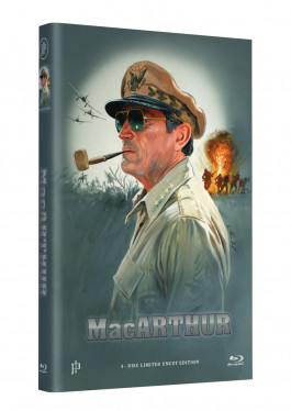 """Hollywood Classic Hartbox Collection """"MacARTHUR - Held des Pazifik"""" - Grosse Hartbox Cover A [Blu-ray] Limited 50 Edition - Uncut"""