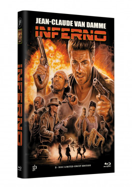 INFERNO (Jean-Claude Van Damme) - 2-Disc Grosse Hartbox Cover A (Blu-ray + DVD) Limited 66 Edition - Uncut
