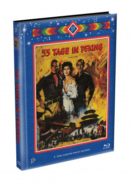 55 TAGE IN PEKING - wattiertes Mediabook Cover A [Blu-ray] Limited 99 Edition