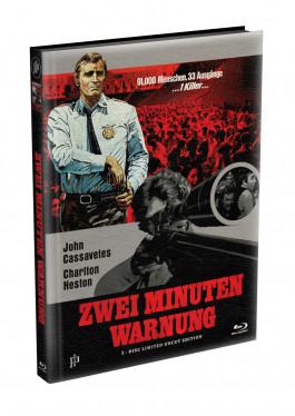 ZWEI MINUTEN WARNUNG - Wattiertes Mediabook Cover A [Blu-ray] Limited 149 Edition