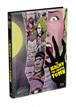 DIE NACHT DER LEBENDEN TOTEN (1968) - wattiertes Mediabook - Cover A (Blu-ray) Limited 22 Edition - Uncut