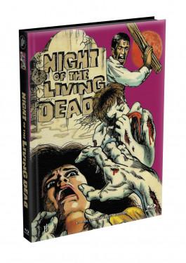 DIE NACHT DER LEBENDEN TOTEN (1968) - wattiertes Mediabook - Cover W (Blu-ray) Limited 22 Edition - Uncut