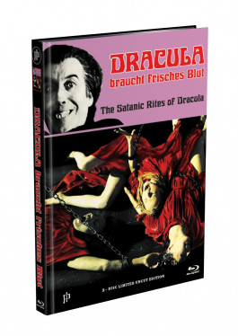 DRACULA BRAUCHT FRISCHES BLUT - 2-Disc Mediabook Cover A (Blu-ray + DVD) Limited 88 Edition - Uncut