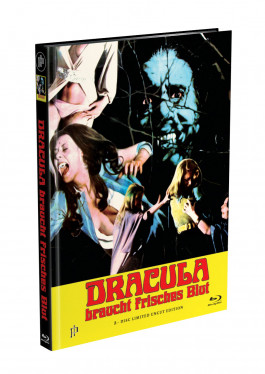 DRACULA BRAUCHT FRISCHES BLUT - 2-Disc Mediabook Cover E (Blu-ray + DVD) Limited 88 Edition - Uncut