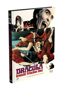 DRACULA BRAUCHT FRISCHES BLUT - 2-Disc Mediabook Cover F (Blu-ray + DVD) Limited 88 Edition - Uncut
