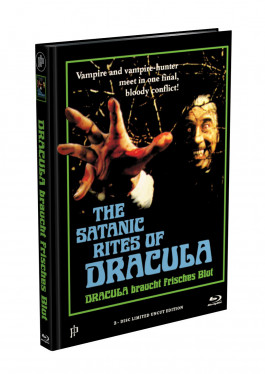 DRACULA BRAUCHT FRISCHES BLUT - 2-Disc Mediabook Cover H (Blu-ray + DVD) Limited 88 Edition - Uncut