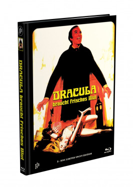 DRACULA BRAUCHT FRISCHES BLUT - 2-Disc Mediabook Cover I (Blu-ray + DVD) Limited 88 Edition - Uncut