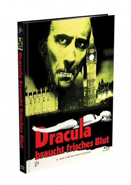 DRACULA BRAUCHT FRISCHES BLUT - 2-Disc Mediabook Cover J (Blu-ray + DVD) Limited 88 Edition - Uncut