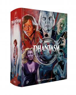 PHANTASM I-V - 16-Disc MEGABOOK - Limited 500 Complete Mediabook Edition - inkl. Das Böse 2 Unrated  und Soundrack [5 Blu-ray + 10 DVD + 1 CD] + Bonus: A1 Poster, gerollt