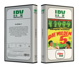 DIE WILDEN  5 aka THE SAVAGE FIVE - VideoCase Retro Edition Cover A - Limited 33 [Blu-ray] Uncut