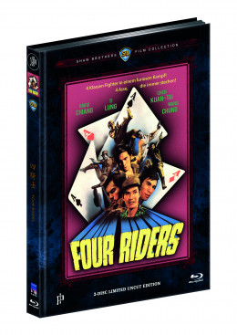 FOUR RIDERS (Blu-ray + DVD) - Cover B - Mediabook - Limited 444 Edition - Uncut (Shaw Brothers)