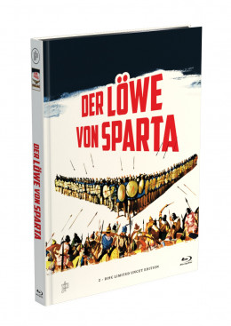 DER LÖWE VON SPARTA - 2-Disc Mediabook Cover A [Blu-ray + DVD] Limited 50 Edition - Uncut