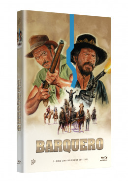 """Hollywood Classic Hartbox Collection """"BARQUERO"""" - Grosse Hartbox Cover A [Blu-ray] Limited 50 Edition - Uncut"""