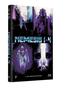 NEMESIS 1-4 - Grosse Hartbox Cover A [4 Filme auf 1 Blu-ray] Limited 50 Edition  - Uncut