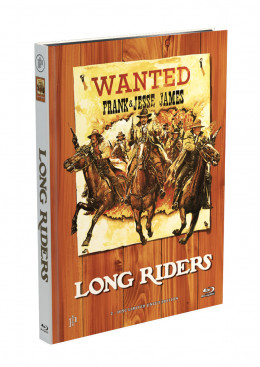 LONG  RIDERS - 2-Disc Mediabook Cover A [Blu-ray + DVD] Limited 50 Edition - Uncut
