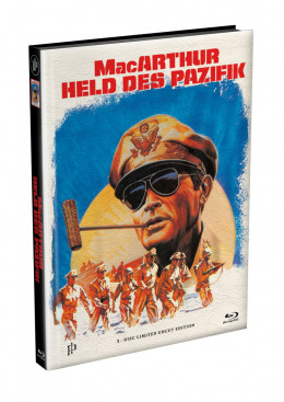 MacARTHUR - Held des Pazifik - wattiertes Mediabook Cover A [Blu-ray] Limited 149 Edition