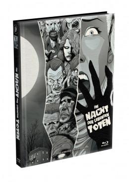 DIE NACHT DER LEBENDEN TOTEN (1968) - wattiertes Mediabook - Cover C (Blu-ray) Limited 22 Edition - Uncut
