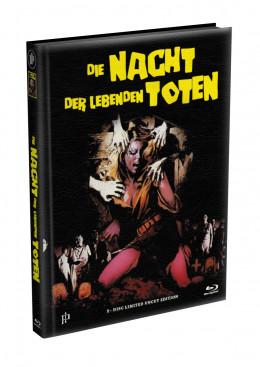 DIE NACHT DER LEBENDEN TOTEN (1968) - wattiertes Mediabook - Cover F (Blu-ray) Limited 22 Edition - Uncut