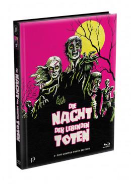 DIE NACHT DER LEBENDEN TOTEN (1968) - wattiertes Mediabook - Cover N (Blu-ray) Limited 22 Edition - Uncut