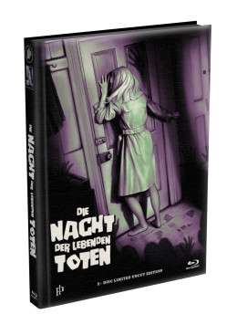 DIE NACHT DER LEBENDEN TOTEN (1968) - wattiertes Mediabook - Cover Q (Blu-ray) Limited 22 Edition - Uncut