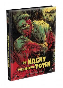 DIE NACHT DER LEBENDEN TOTEN (1968) - wattiertes Mediabook - Cover S (Blu-ray) Limited 22 Edition - Uncut