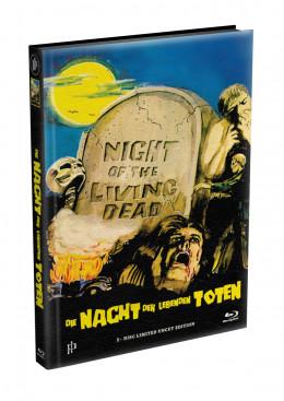 DIE NACHT DER LEBENDEN TOTEN (1968) - wattiertes Mediabook - Cover T (Blu-ray) Limited 22 Edition - Uncut