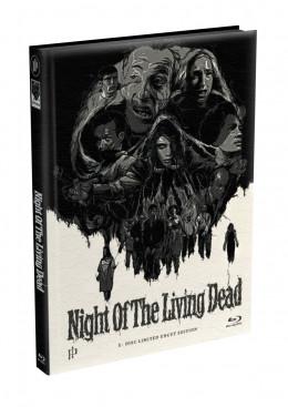 DIE NACHT DER LEBENDEN TOTEN (1968) - wattiertes Mediabook - Cover U (Blu-ray) Limited 22 Edition - Uncut