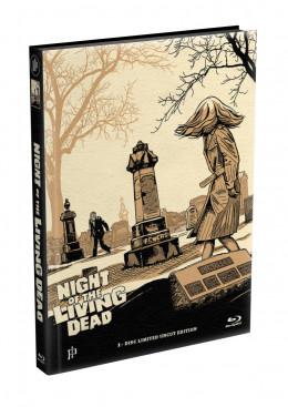 DIE NACHT DER LEBENDEN TOTEN (1968) - wattiertes Mediabook - Cover V (Blu-ray) Limited 22 Edition - Uncut