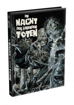 DIE NACHT DER LEBENDEN TOTEN (1968) - wattiertes Mediabook - Cover Y (Blu-ray) Limited 22 Edition - Uncut