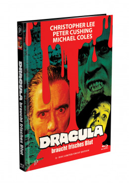 DRACULA BRAUCHT FRISCHES BLUT - 2-Disc Mediabook Cover B (Blu-ray + DVD) Limited 88 Edition - Uncut