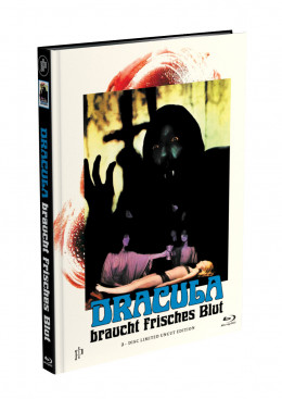 DRACULA BRAUCHT FRISCHES BLUT - 2-Disc Mediabook Cover D (Blu-ray + DVD) Limited 88 Edition - Uncut