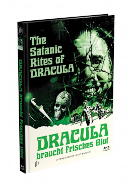 DRACULA BRAUCHT FRISCHES BLUT - 2-Disc Mediabook Cover G (Blu-ray + DVD) Limited 88 Edition - Uncut