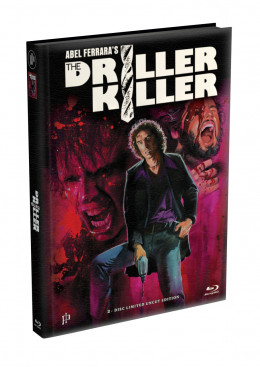 THE DRILLER KILLER - 2-Disc wattiertes Mediabook - Cover I (Blu-ray + DVD) Limited 77 Edition - Uncut