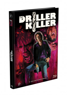 DRILLER KILLER - 2-Disc Mediabook Edition (Blu-ray + DVD) - Cover H Limited 999
