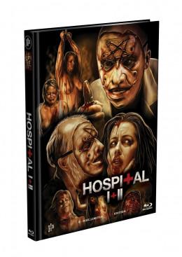 THE HOSPITAL 1 + 2 - UNCUT - 2-Disc wattiertes Mediabook - Cover A (2 x Blu-ray) Limited 500 Edition - Uncut