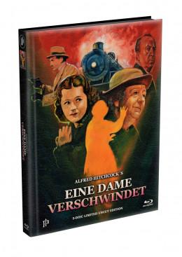 Alfred Hitchcock´s - EINE DAME VERSCHWINDET (The Lady Vanishes) 1938 - 2-Disc wattiertes Mediabook Cover A (Blu-ray + DVD) Limited 500 Edition - Uncut