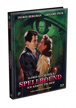 Alfred Hitchcock´s - ICH KÄMPFE UM DICH (Spellbound) 1945 - 2-Disc wattiertes Mediabook Cover A (Blu-ray + DVD) Limited 500 Edition - Uncut