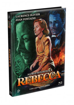 Alfred Hitchcock´s - REBECCA (1940) - 2-Disc wattiertes Mediabook Cover A (Blu-ray + DVD) Limited 500 Edition - Uncut