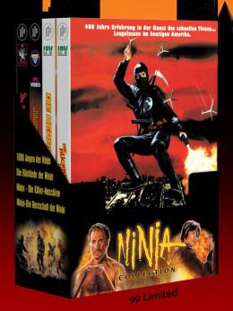 NINJA BOX-SET - 4 x 2-Disc NINJA-Mediabooks + Schuber [4 Blu-ray + 4 DVD] Limited 99 Edition - Uncut