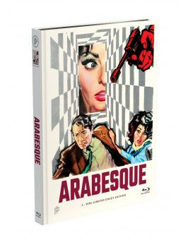 ARABESQUE - 2-Disc Mediabook Cover A [Blu-ray + DVD] Limited 50 Edition - Uncut - Bonusfilm auf DVD: Der Mann aus Kentucky
