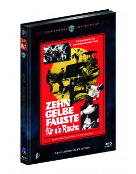 ZEHN GELBE FÄUSTE FÜR DIE RACHE (Blu-Ray+DVD) (2Discs) - Cover C - Mediabook - Limited 222 Edition