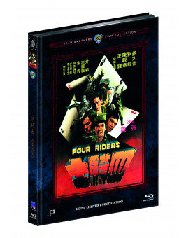 FOUR RIDERS (Blu-ray + DVD) - Cover C - Mediabook - Limited 222 Edition - Uncut (Shaw Brothers)