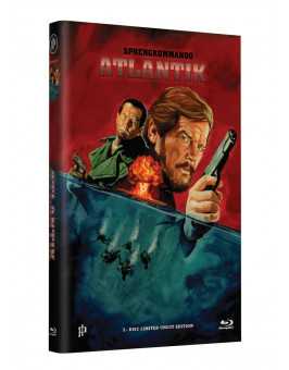 "Hollywood Classic Hartbox Collection ""SPRENGKOMMANDO ATLANTIK"" - Grosse Hartbox Cover A [Blu-ray] Limited 50 Edition - Uncut"