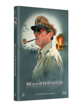 "Hollywood Classic Hartbox Collection ""MacARTHUR - Held des Pazifik"" - Grosse Hartbox Cover A [Blu-ray] Limited 50 Edition - Uncut"