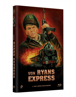 """Hollywood Classic Hartbox Collection """"VON RYANS EXPRESS"""" - Grosse Hartbox Cover A [Blu-ray] Limited 50 Edition - Uncut"""