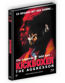 KICKBOXER 4 - THE AGGRESSOR (Blu-ray + DVD) - Cover A - Mediabook - Limited 250 Edition UNCUT