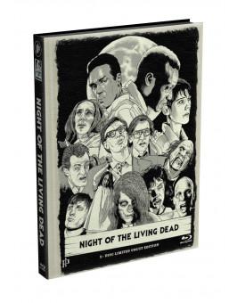 DIE NACHT DER LEBENDEN TOTEN (1968) - wattiertes Mediabook - Cover B (Blu-ray) Limited 22 Edition - Uncut