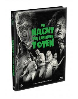 DIE NACHT DER LEBENDEN TOTEN (1968) - wattiertes Mediabook - Cover D (Blu-ray) Limited 22 Edition - Uncut